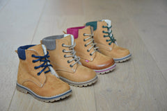 Emel Yellow Lace Up Bottines (2552-K / 2552M)