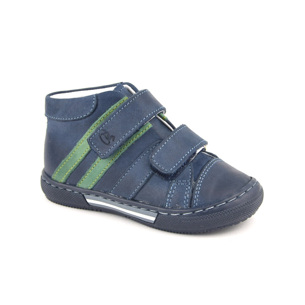 (1855-24) Emel Navy-green Tennis with Velcro Straps - MintMouse (Unicorner Concept Store)