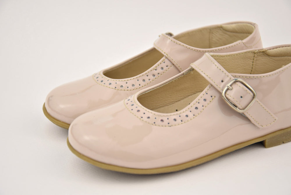 (2674-5) Emel balerina shoes - beige patent leather