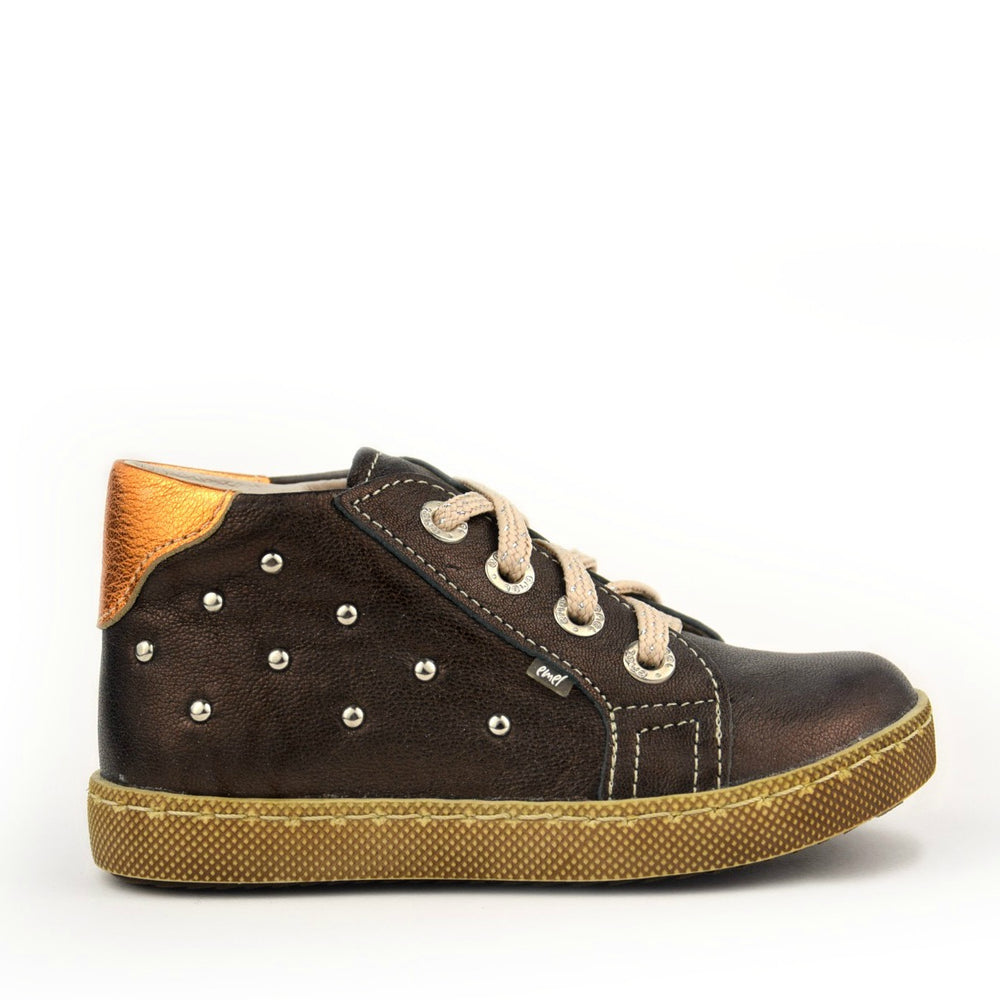 (2591-3) Brown shiny Lace Up Trainers - MintMouse (Unicorner Concept Store)