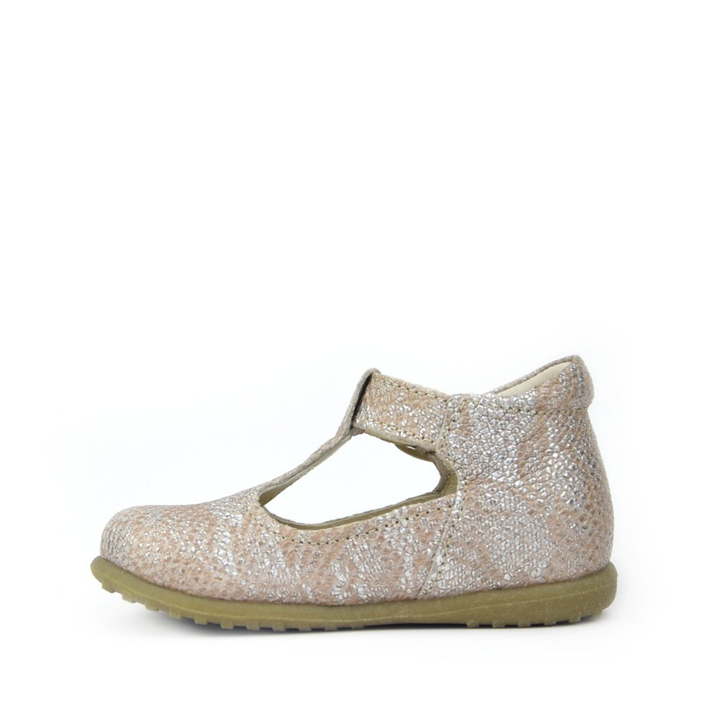 Shiny Neutral Half-Open Shoes (2409A-1)