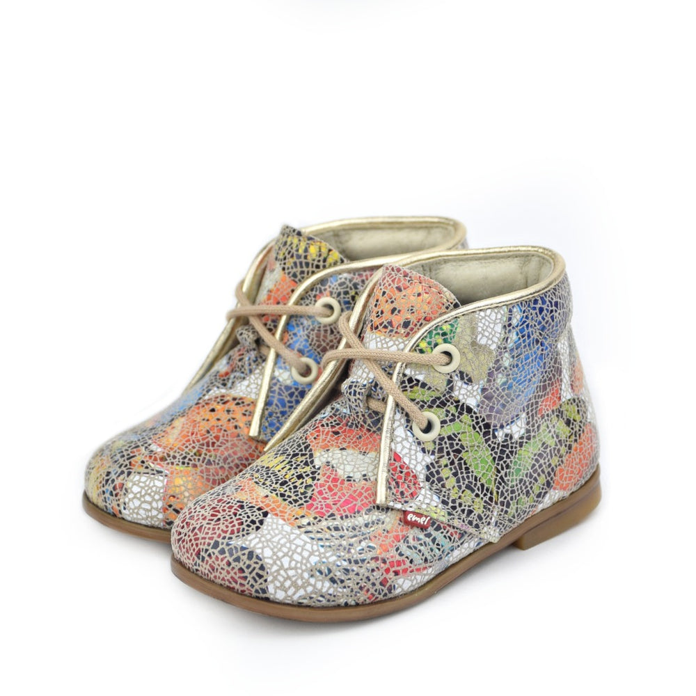 Emel Print Butterfly Lace Up Shoes (2362A)