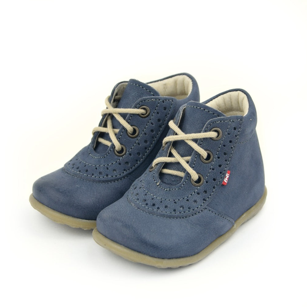 Emel Lace Up First Shoes blue (716-4)