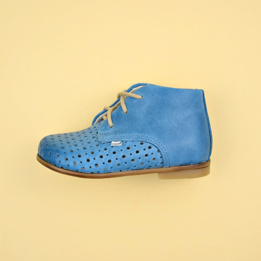 (1426-4) Emel perforated classic first shoes blue - MintMouse (Unicorner Concept Store)