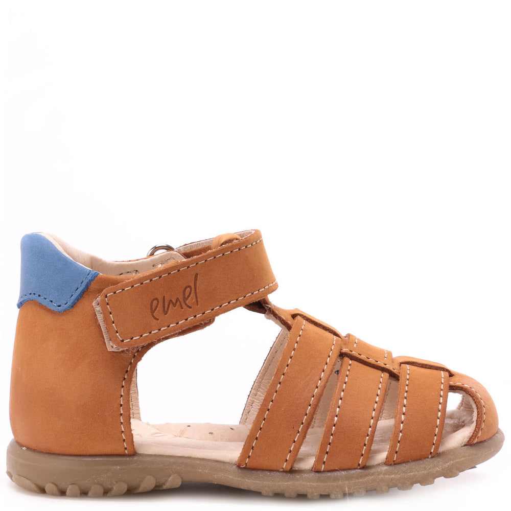 (1078-25) Emel yellow  closed sandals