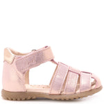 (1078A-1) Emel Gold pink shiny sandals