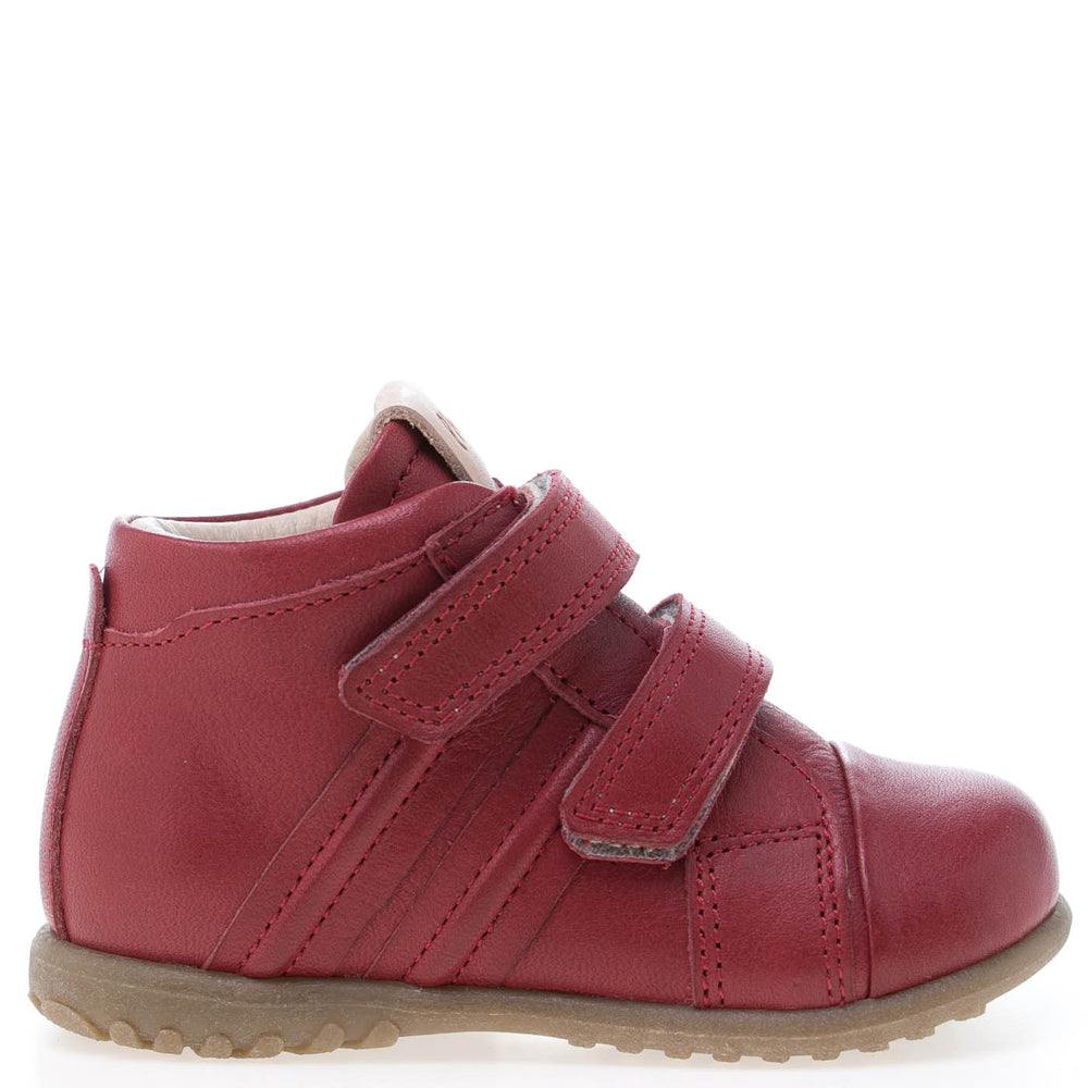 (1084-5) Emel first velcro shoes red