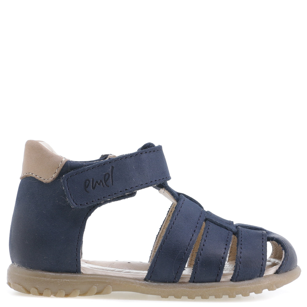(1078-27) Emel Navy closed sandals