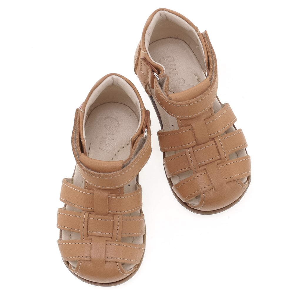 (1093-9) Emel cognac closed sandals - Coming soon! - MintMouse (Unicorner Concept Store)