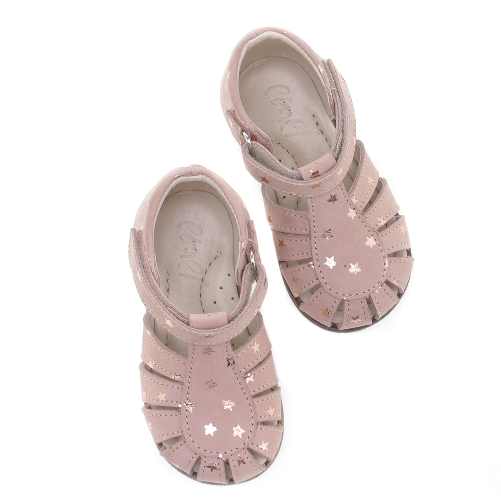(1151B) Emel pink stars closed sandals - Coming soon! - MintMouse (Unicorner Concept Store)