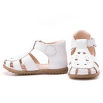 (1214A) Emel white closed sandals