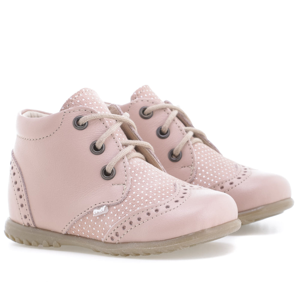 (1437B-6) Emel first shoes brogue pink polka dots - MintMouse (Unicorner Concept Store)