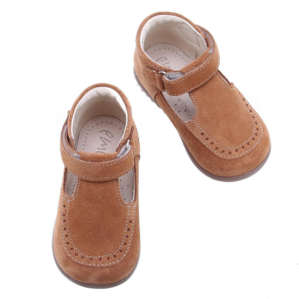 (1490B-5) Brown Velour Half-Open Shoes
