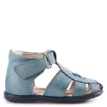 (1670-8) Emel blue closed sandals