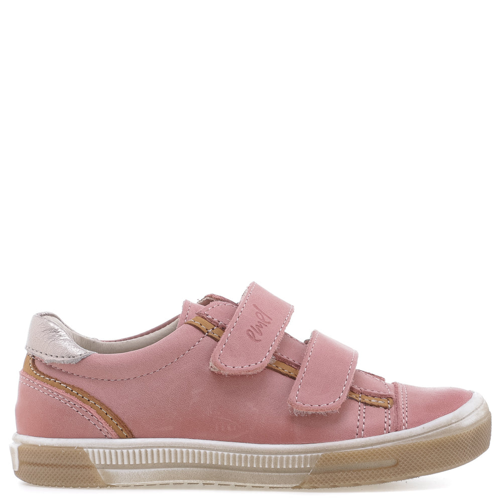 (2066B-3) Low Velcro Trainers coral
