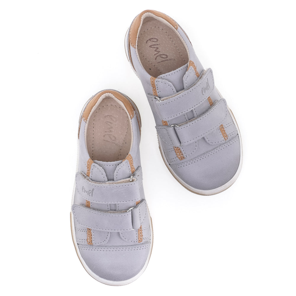(2066B-2) Low Velcro Trainers Grey