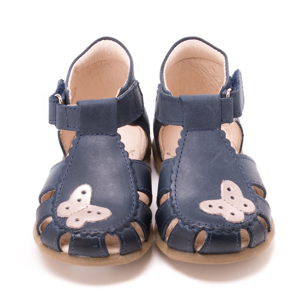 (2183-16) Emel navy butterfly closed sandals - MintMouse (Unicorner Concept Store)