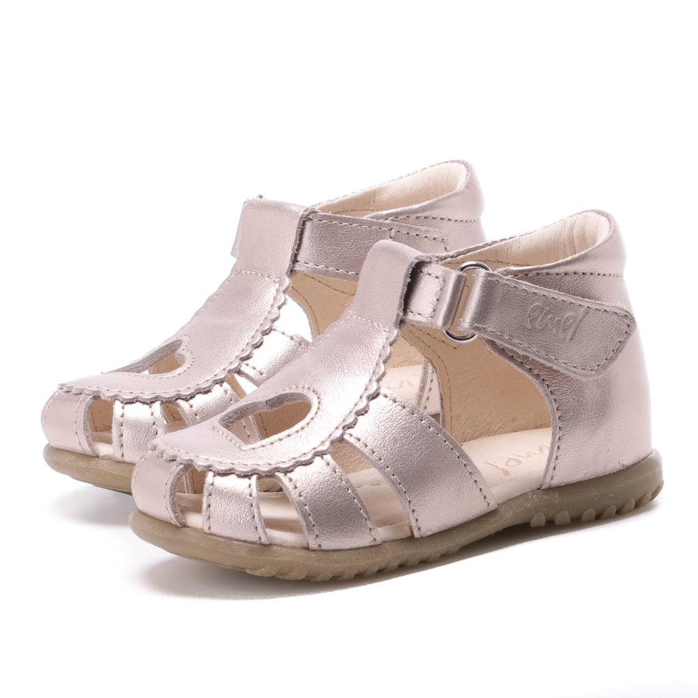 (2183-20 / 2183A-2) Emel shiny heart closed sandals