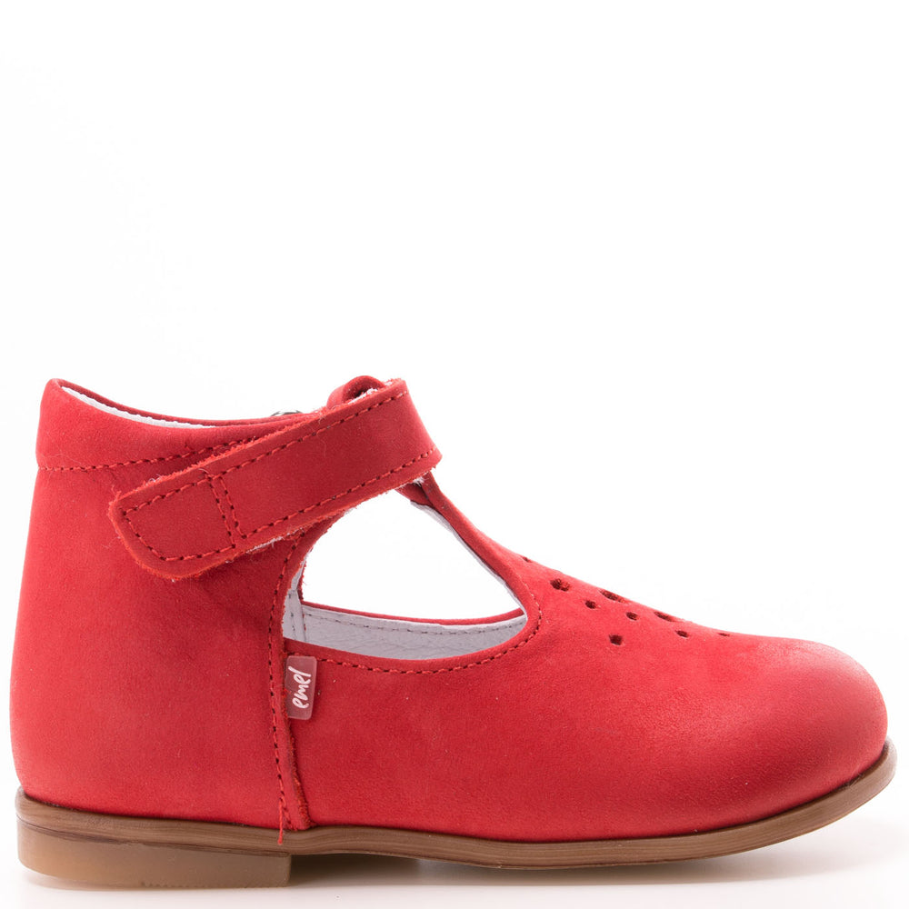 (2385-2) Emel Red balerina perforated