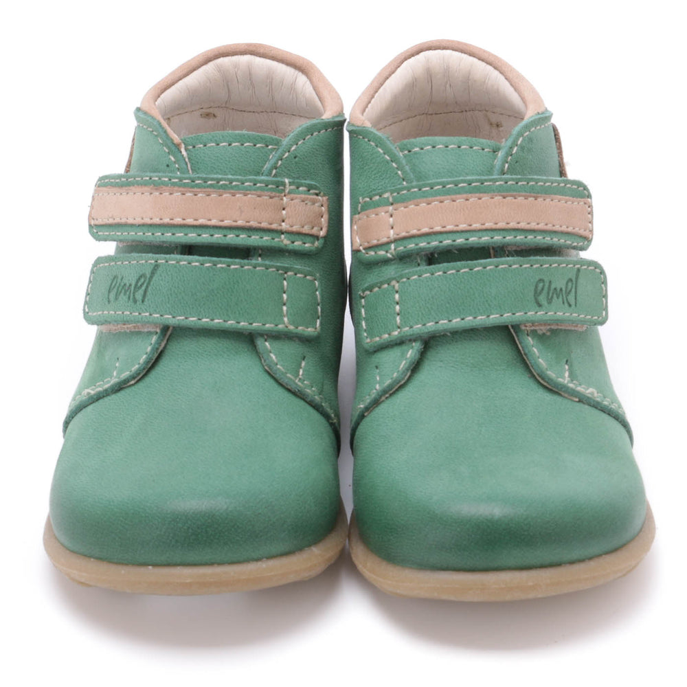 (2439A-4) Emel first shoes velcro green - MintMouse (Unicorner Concept Store)