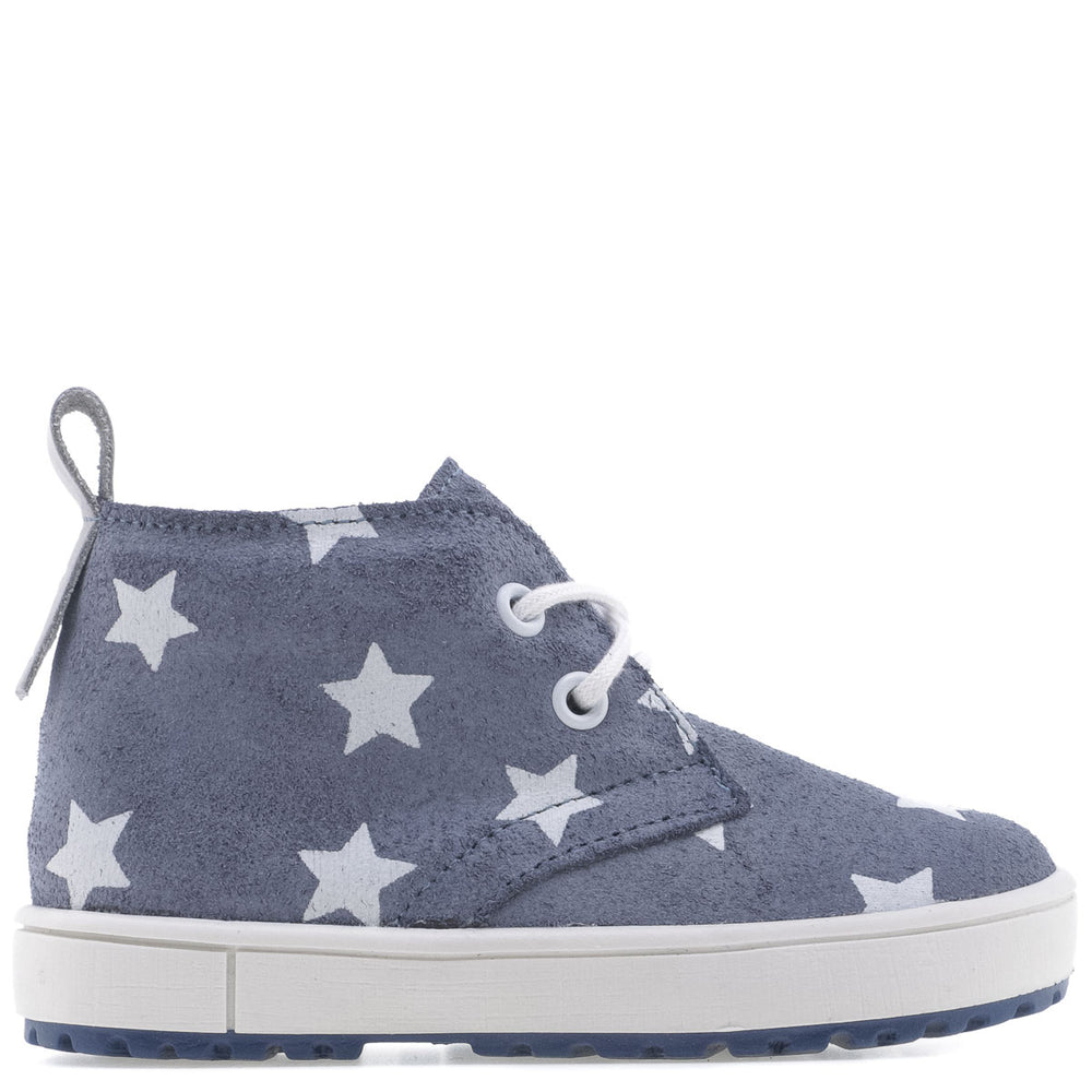(2485/2494) Emel blue stars Lace Up Trainers