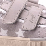 (2486-3) Emel grey Stars low Velcro Trainers