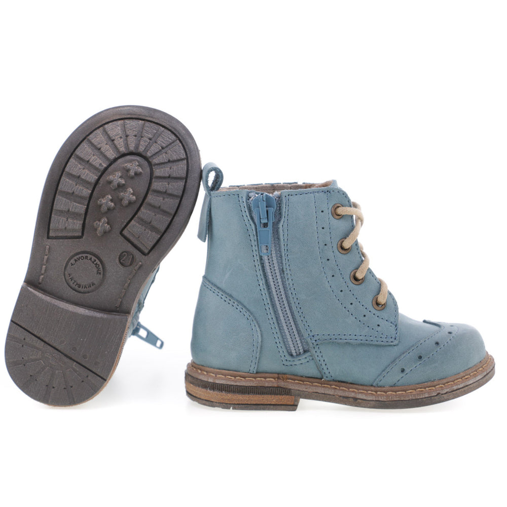 Emel winter shoes - blue brogue (2519-20) - MintMouse (Unicorner Concept Store)