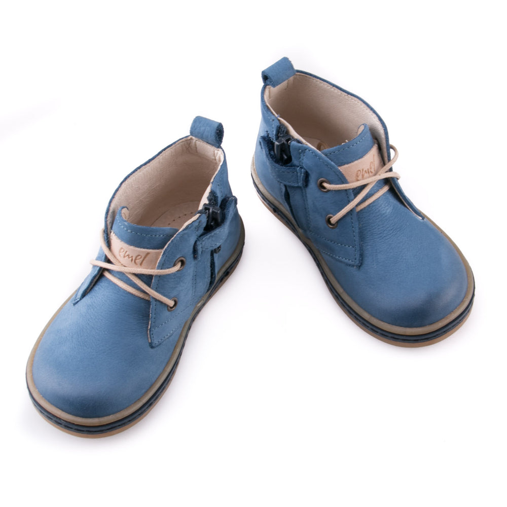 (2621-5) Emel Blue Lace Up Trainers with zipper - MintMouse (Unicorner Concept Store)
