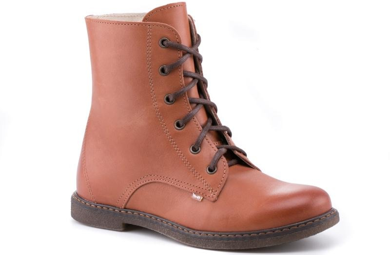 (2622A-8) Emel brown lace-up boots