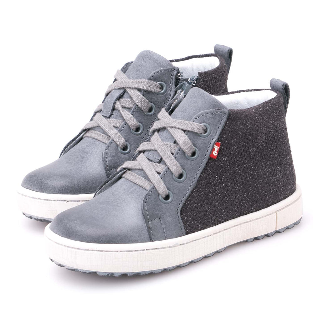(2624-11) Emel shoes grey sneakers with zipper - MintMouse (Unicorner Concept Store)