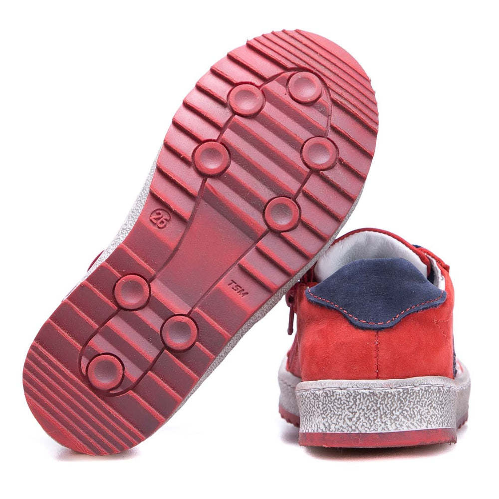 (2627A-15/2628A-15) Low Bumper Trainers red with Zipper - MintMouse (Unicorner Concept Store)