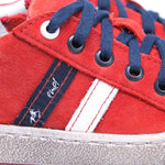(2627A-15/2628A-15) Low Bumper Trainers red with Zipper