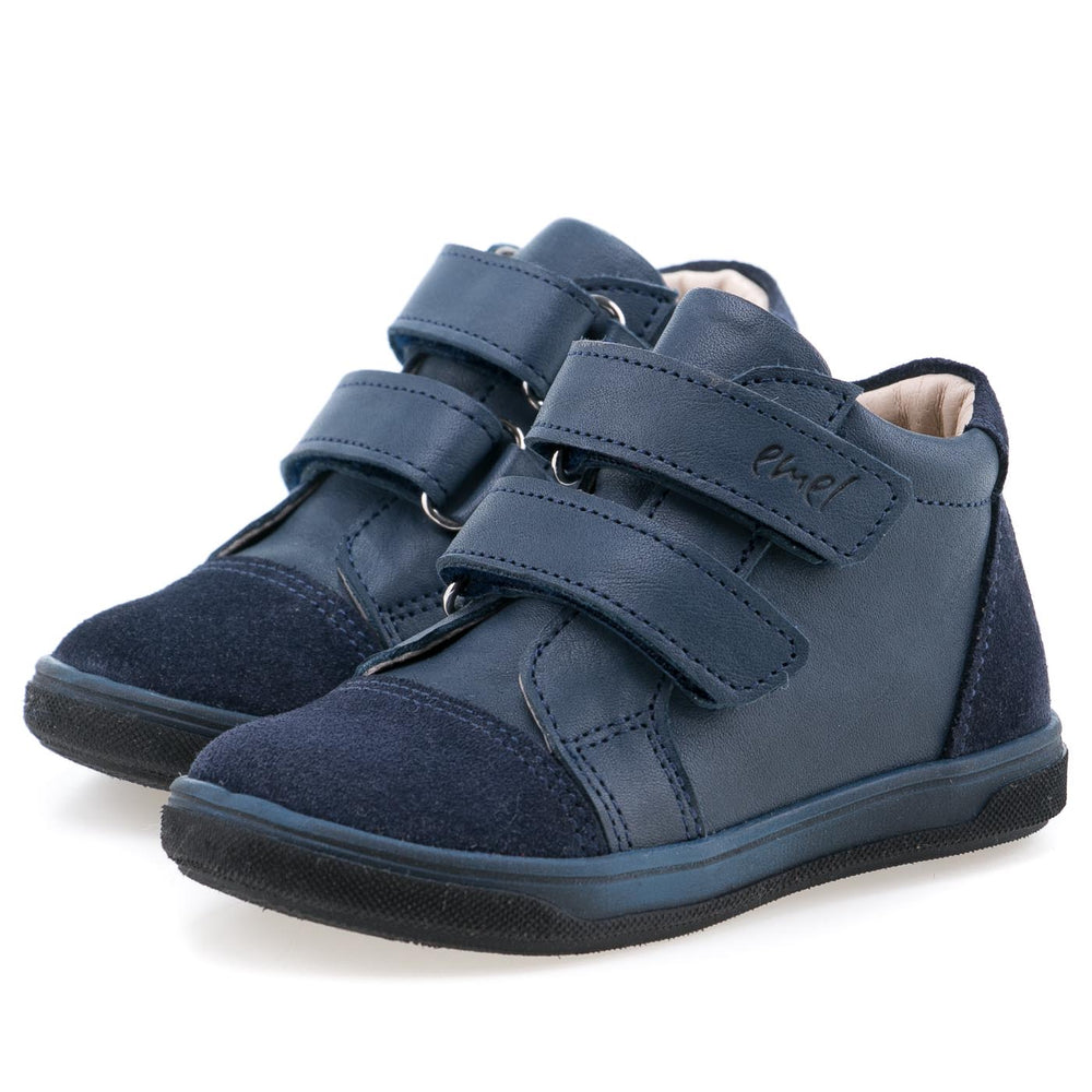 (2675-10) Emel shoes velcro trainers blue