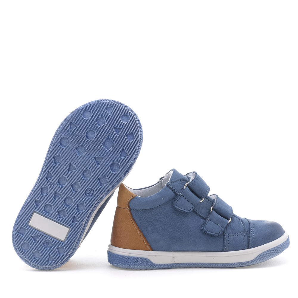 Emel shoes velcro trainers blue (2675-25)