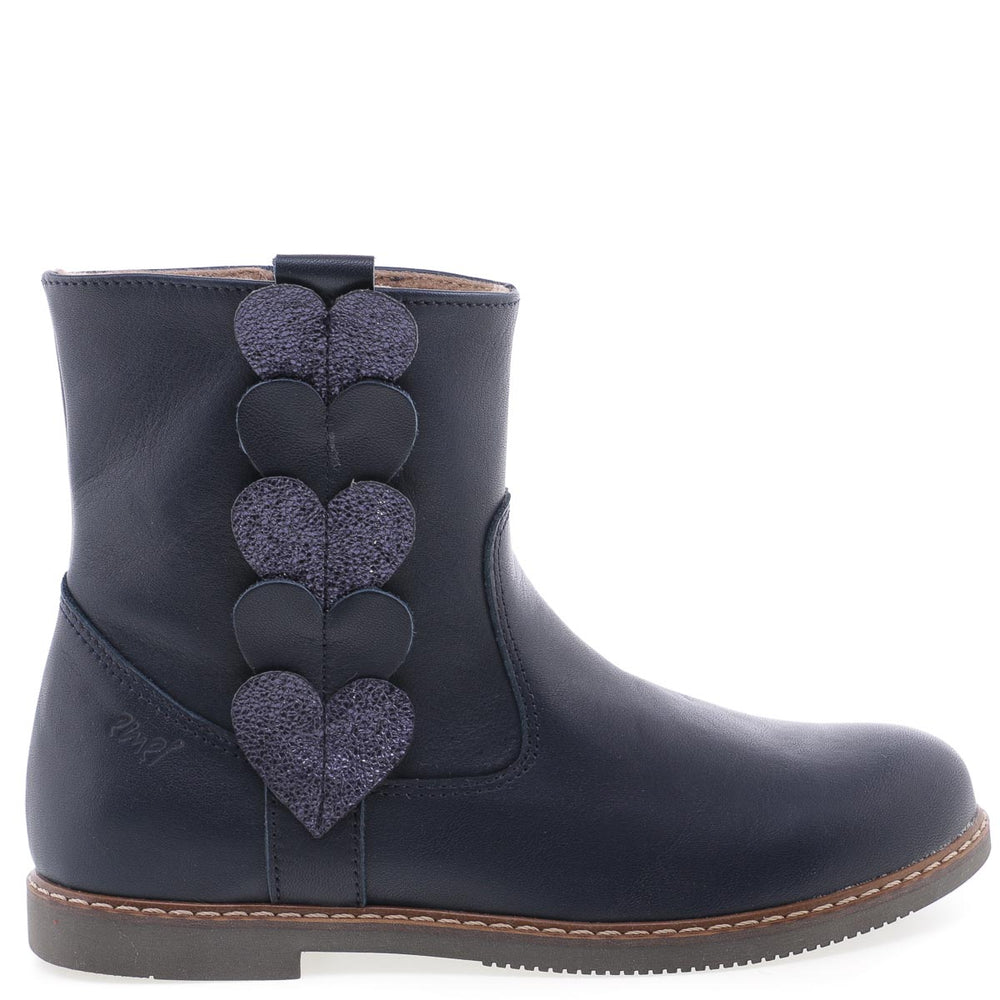 Emel winter boots hearts navy (2692-5)