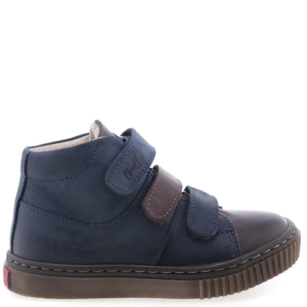 (2699-1) Emel velcro shoes - navy / brown - MintMouse (Unicorner Concept Store)