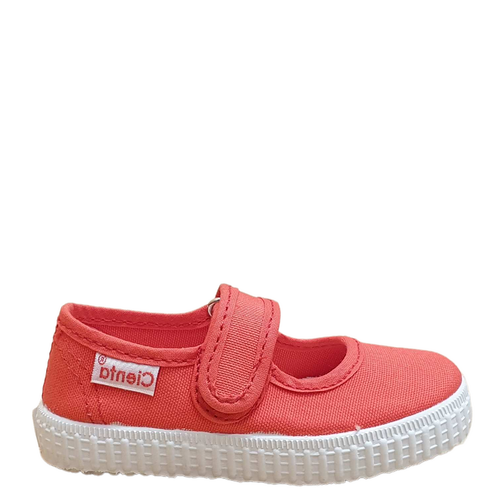 Cienta fabric  Open shoe - Coral
