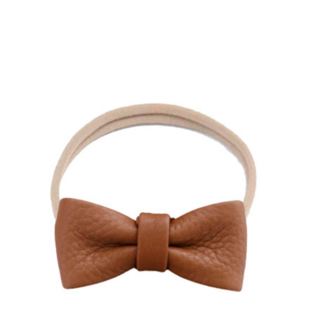 Headband leather bow - brown - MintMouse (Unicorner Concept Store)