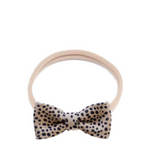 Headband leather bow - cheetah - MintMouse (Unicorner Concept Store)