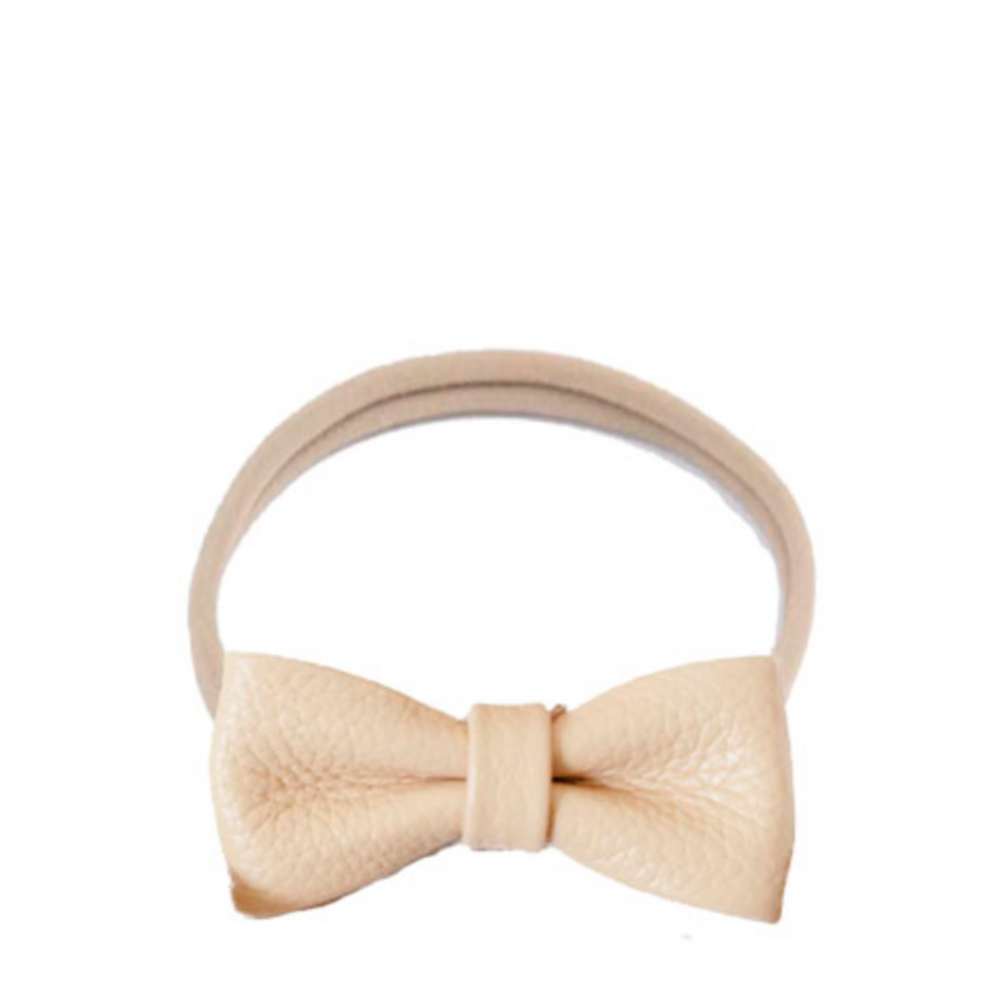Headband leather bow - nude pink - MintMouse (Unicorner Concept Store)