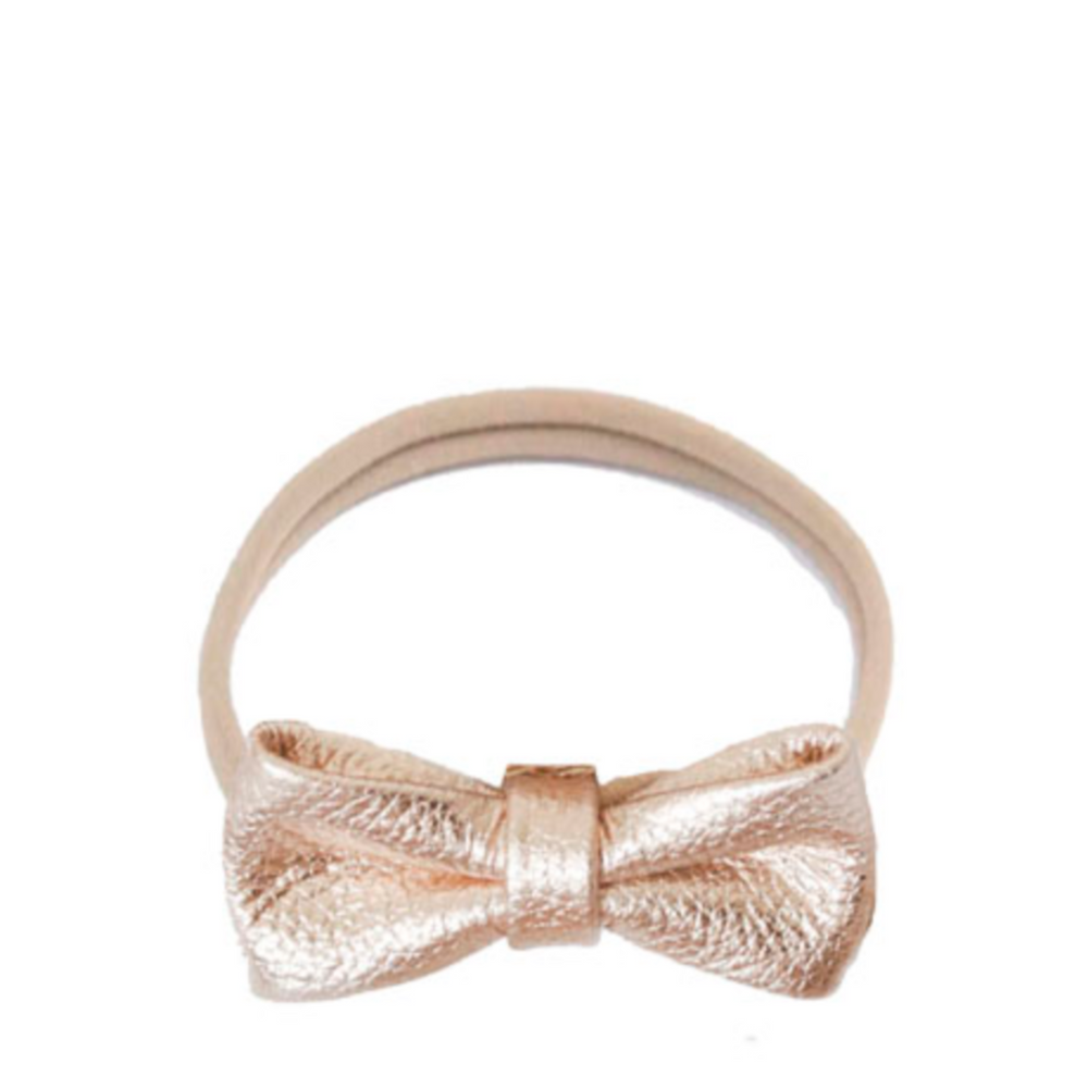 Headband leather bow - rose gold - MintMouse (Unicorner Concept Store)