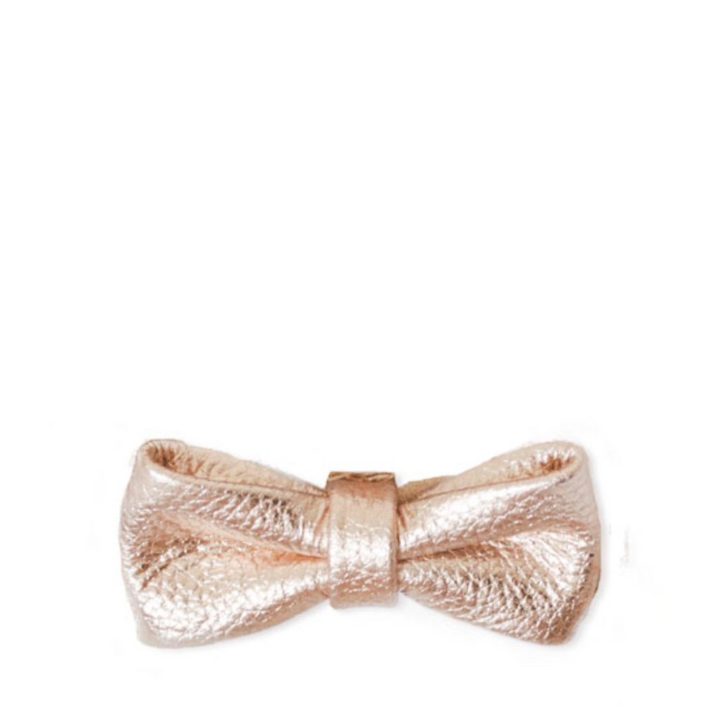 Hairclip leather bow - rose gold - MintMouse (Unicorner Concept Store)