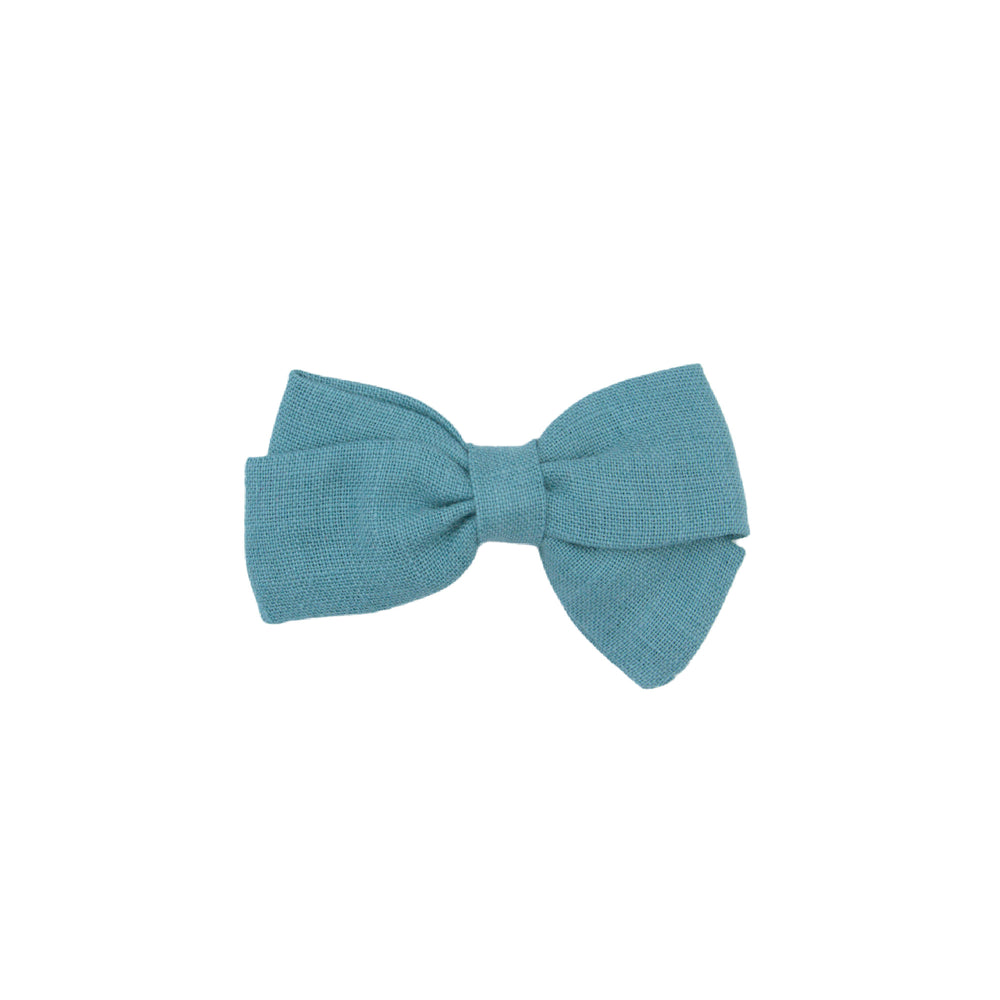 Hairclip bow - turquoise blue