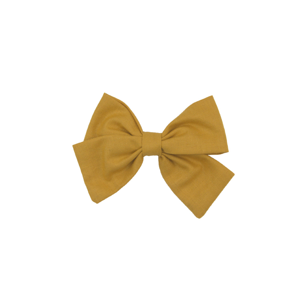 Hairclip bow - yellow