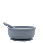 Silicone suction bear bowl - grey