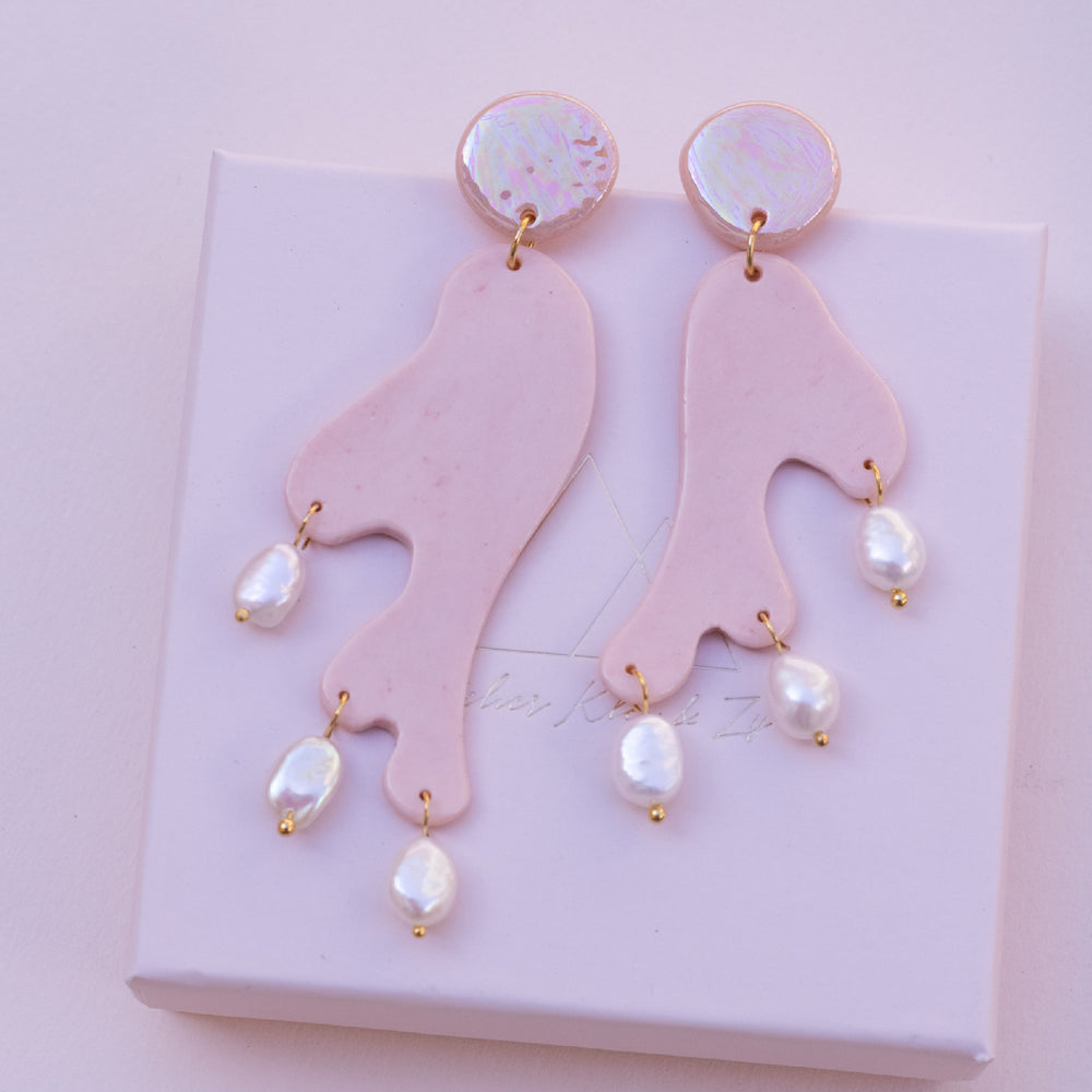 The Donatella Pink Drop Earring