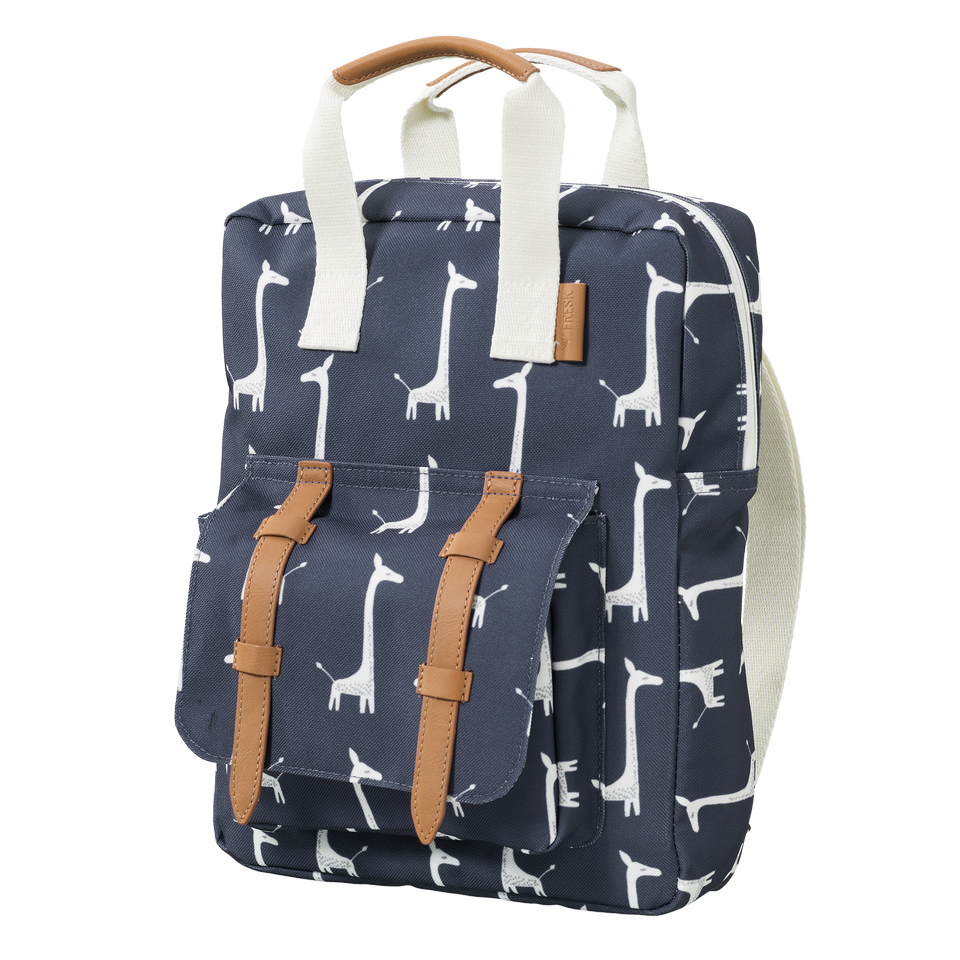 Backpack Fresk - Giraffe blue
