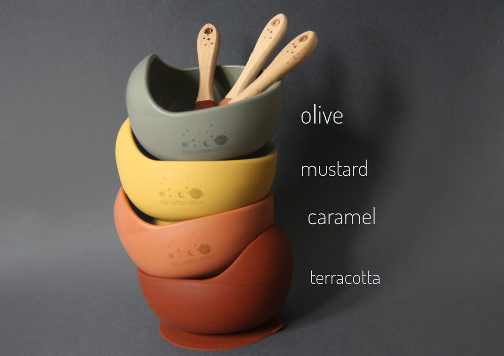 Silicone suction bowl - Terracotta