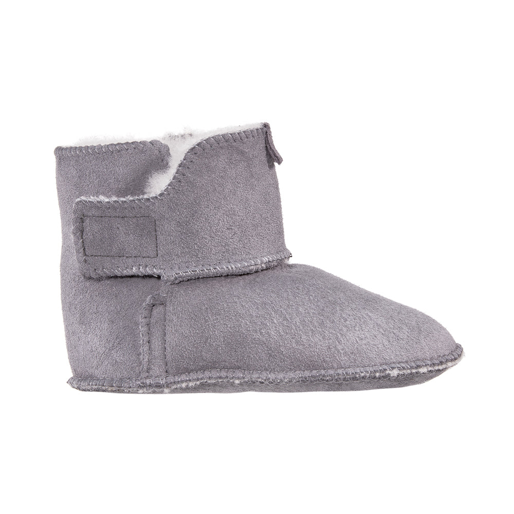 Soft wool baby winter booties grey - MintMouse (Unicorner Concept Store)