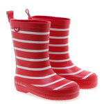 Emel rainboots red striped